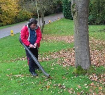Acorn Gardening Services, leaf blower